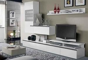 Les meubles du salon for Deco cuisine pour meuble tv bois