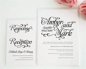 Alluring Script Wedding Invitations Wedding Invitations