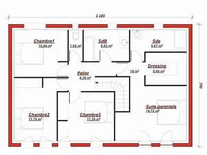 plan de maison 4 chambres avec etage 4 de maisons With plan de maison a etage 5 chambres