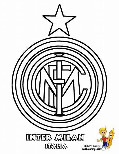 Coloring Soccer Pages Inter Milan Yescoloring Fifa
