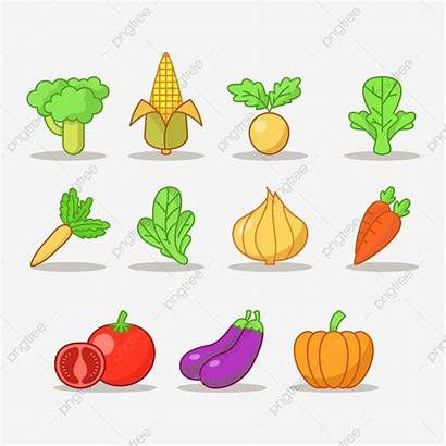 Clipart Vegetables Icons Colourful Psd Broccoli