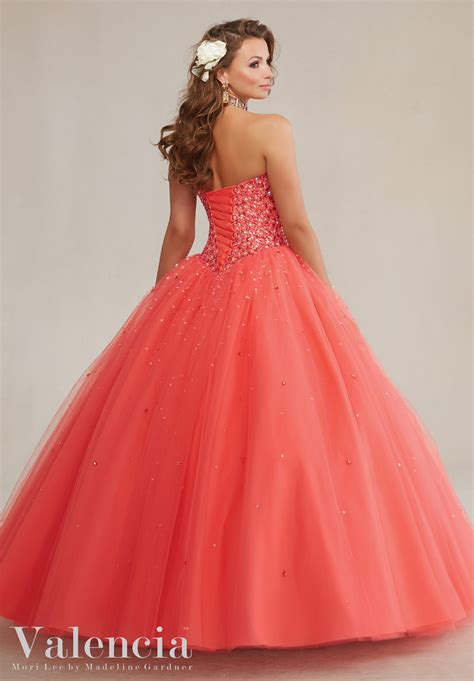 tulle ball style with beading quinceanera dress style