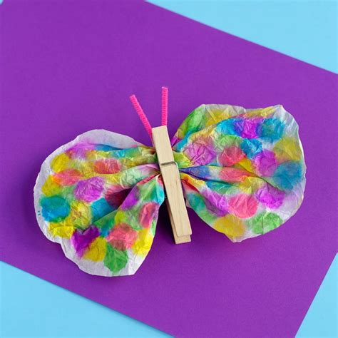 clothespin and coffee filter butterfly craft 228 | Clothespin Coffee Filter Butterfly Craft ExtraLarge1000 ID 2389549