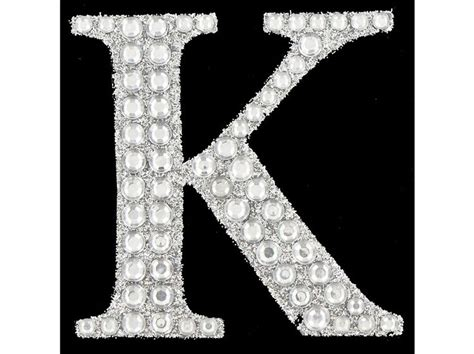 paper studio silver glitter gemstone sticker letter  shop fancy letters bling