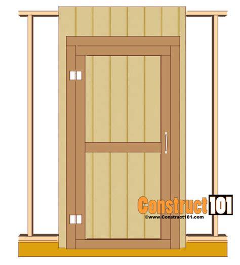 shed door plans   construct