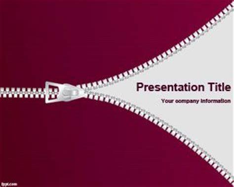 cloth zipper powerpoint template