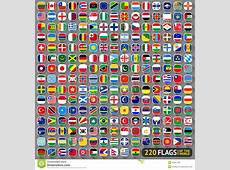 Vlaggen van de Wereld vector illustratie Illustratie