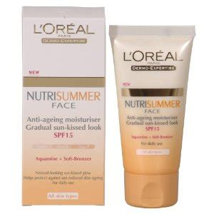 loreal nutrisummer face cream spf ml