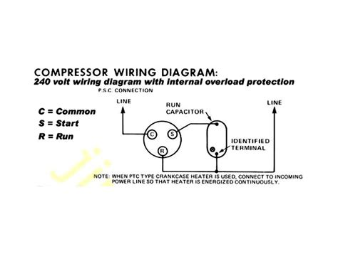 problem  central air compressor   connect  red run wire  power
