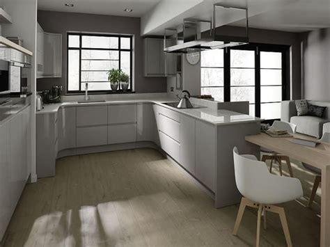 grey high gloss handleless kitchens google search