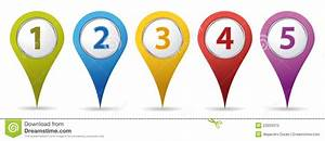 Location Number Pins Stock Photo - Image: 23033370