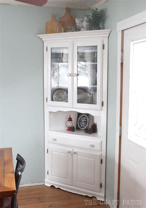 Corner Hutch Furniture Makeover   DIY Furniture & Storage