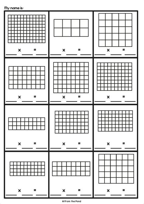 array activities multiplication teaching multiplication