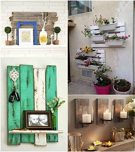 15 creative wall decor ideas with recycled pallets With interior decor recycling