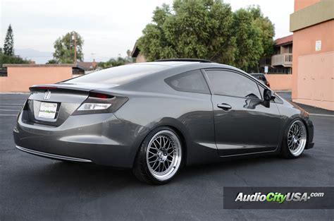 2012 honda civic 2 dr on 18 quot esr wheels sr 01 hyper black