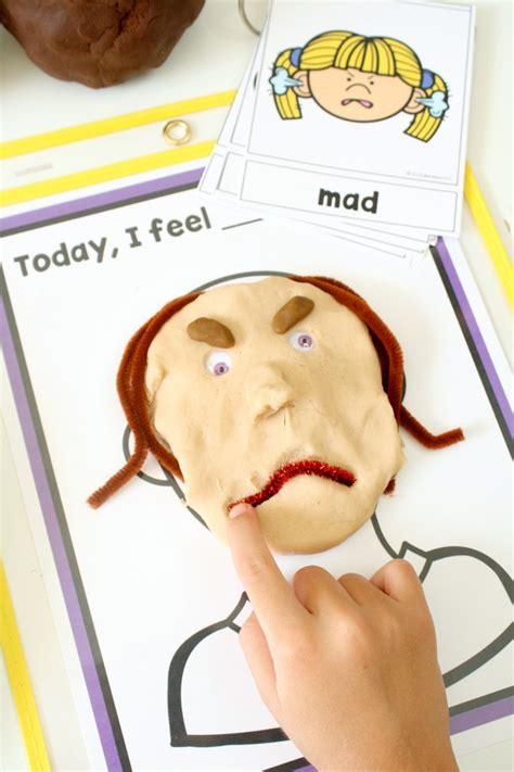 teaching feelings today i feel play dough mats fantastic 662 | Today I Feel Emotions Mats Free Printable for Preschool and Kindergarten Feelings Activities freebie preschool kindergarten