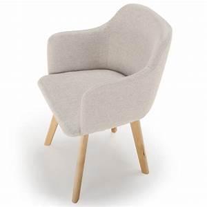 Chaise Scandinave Verte : chaise scandinave design tissu beige pas cher scandinave ~ Teatrodelosmanantiales.com Idées de Décoration