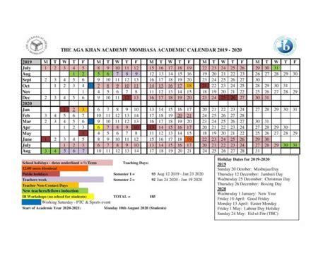 academic calendar aga khan academies