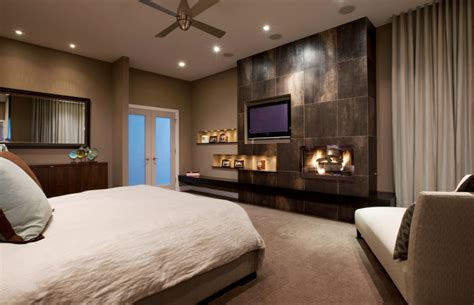 tv wall units stone fireplace custom bedding natural
