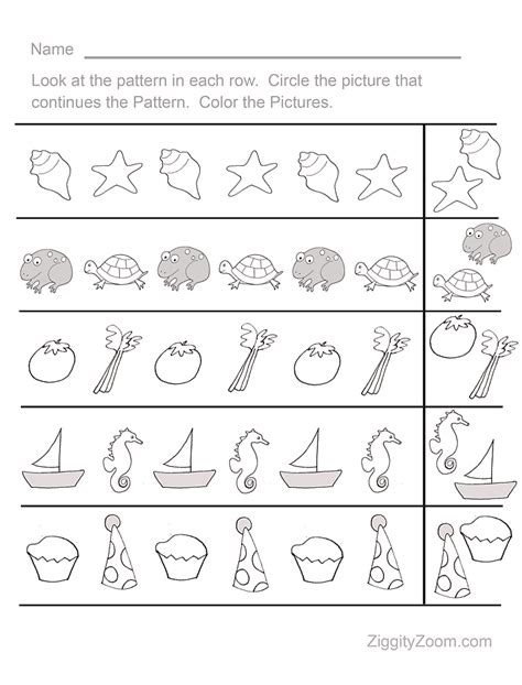 fun pattern sequence pre k worksheet 1 activities for early childhood pattern worksheets for