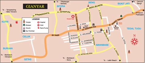 complete gianyar bali location map  holidays lover