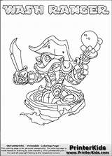 Skylanders Coloring Force Swap Thin Line Colouring Ranger Wash Shaded Happy Trigger Printerkids sketch template