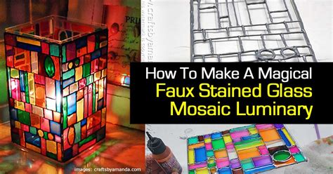 how to make a stained glass l how to make a magical faux stained glass mosaic luminary