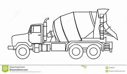 Mixer Cement Concrete Truck Clip Clipart Vector