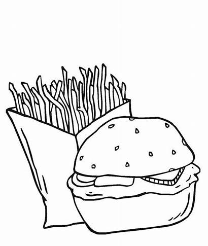 Burger Coloring Fries Junk Duo Dynamic Pages