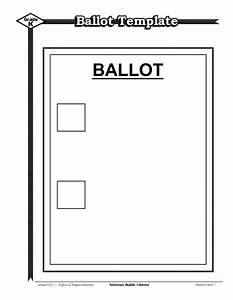 voting ballot template notice of general election and With election ballots template