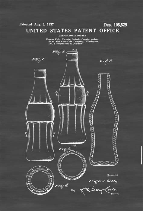 coke bottle patent print coca cola bottle coca cola collectibles diner decor