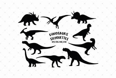 Svg Dinosaurs Silhouettes Cut Dinosaur Cricut Designer