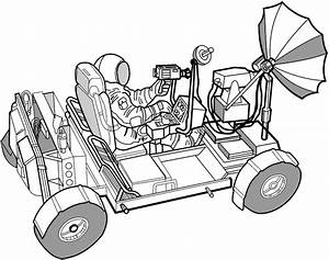 Draw the Moon Rover Car - Pics about space