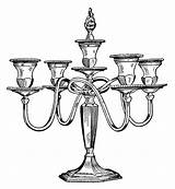 Candle Clip Clipart Antique Candelabra Holder Candles Fashioned Printable Drawing Illustration Victorian Illustrations Olddesignshop Stand Cliparts Holders Library Printables Furniture sketch template