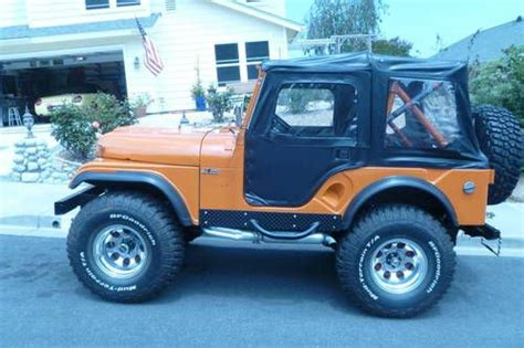 purchase used vintage 1958 willys jeep cj5 completely customised restored in carlsbad