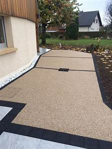 Dalles Beton Terrasse : dalle terrasse beton noir jardin ~ Melissatoandfro.com Idées de Décoration