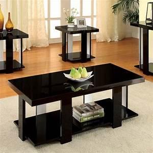 lakoti i contemporary black white solid wood veneer coffee With white solid wood coffee table
