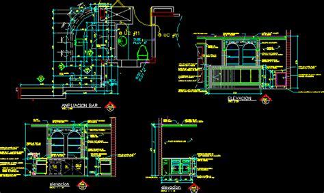 bar design  details  autocad cad