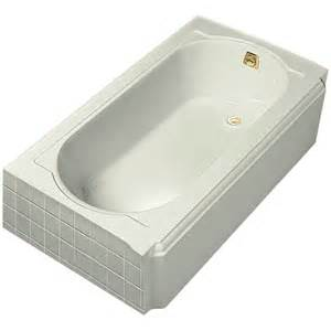 kohler memoirs 5 ft right drain cast iron soaking tub in biscuit k 722 96 the home depot