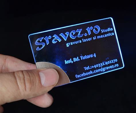 Laser Engraved Business Cards With Leds