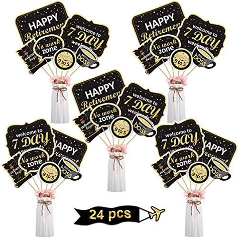 If you've been learning or working remotely. Boao Retirement Party Decoration Set Golden Retirement Party Centerpiece Sticks Glitter Table ...