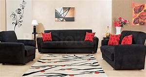 20 photos black leather sofas and loveseats sofa ideas With sofa bed and recliner chair set