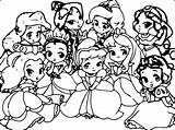 Coloring Disney Princess Pages sketch template