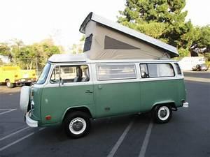 1974 Vw Bus Westfalia Campmobile  Straight  U0026 Solid Ca Pop Top Camper  Very Nice