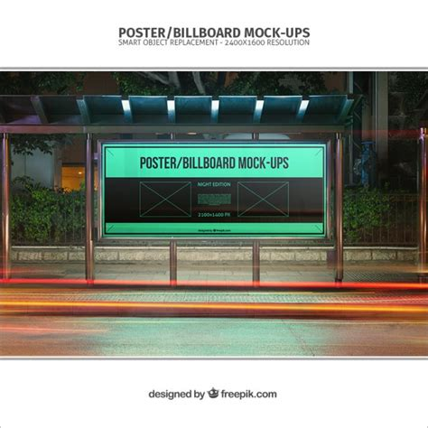 bus stop poster psd template bus stop billboard mockup psd file free download