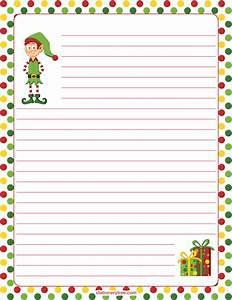 Christmas Letter Border Paper Template