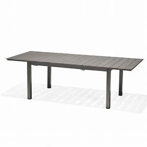 Table 6 Personnes : table de jardin salerno rectangulaire gris 4 6 personnes leroy merlin ~ Teatrodelosmanantiales.com Idées de Décoration