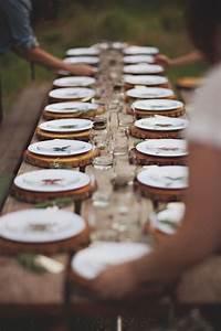 Sous Assiette Bois : sous assiette de bois party f te au lac pinterest deco de fete mariage de reve et f tes ~ Teatrodelosmanantiales.com Idées de Décoration