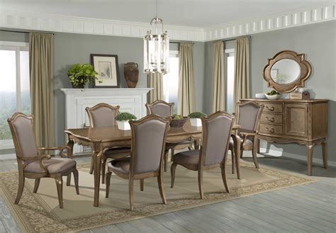 Chambord Champagne Gold Extendable Dining Room Set From