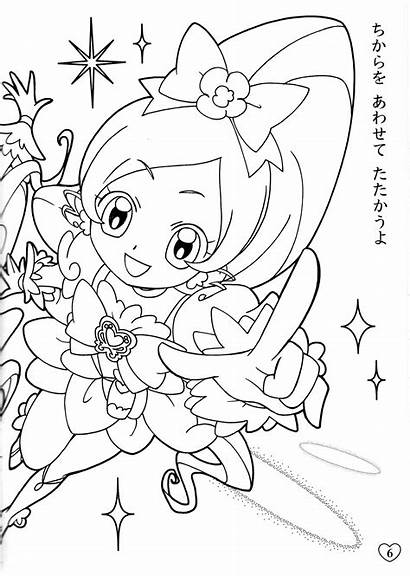 Heartcatch Coloring Cure Precure Blossom Pages Anime